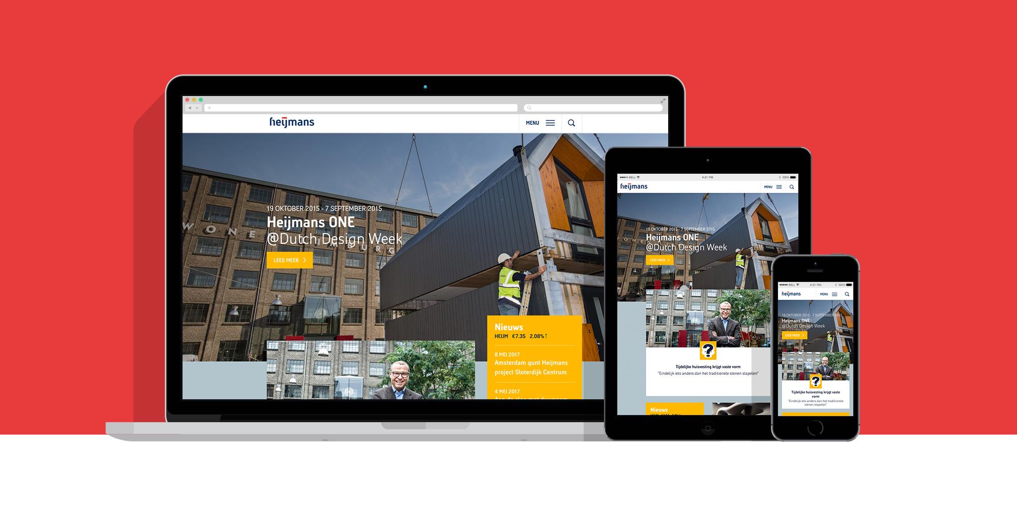 Heijmans.nl responsive devices